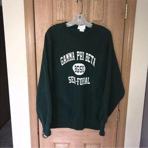 Vintage BGSU Sweatshirt Cross Grain Gamma Phi Beta
